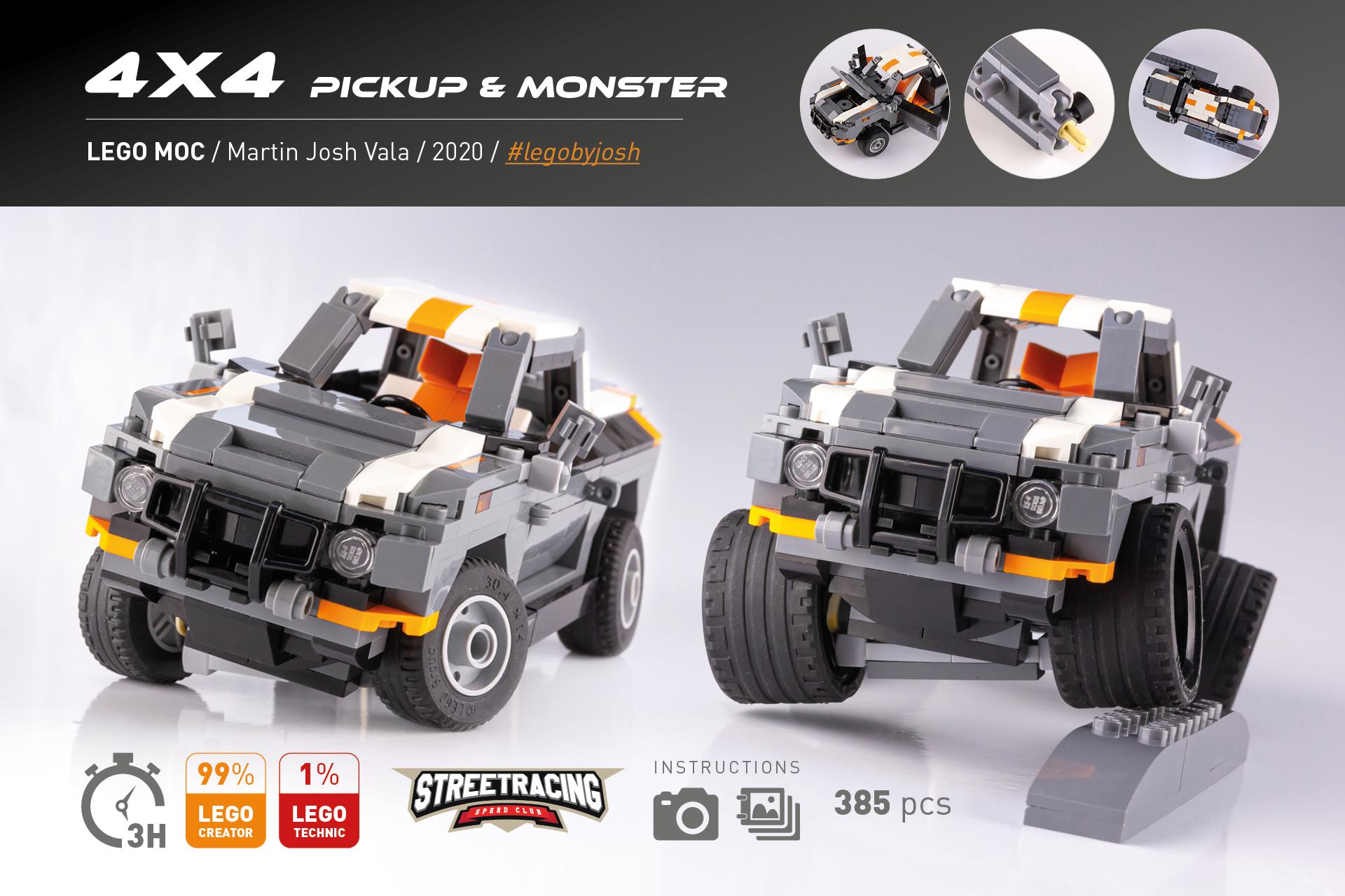 Lego MOC Pickup 4x4 by Martin Josh Vala